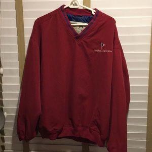 Crest Signature v-neck red pullover jacket